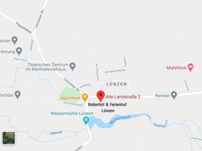 Urlaub-Ferienwohnungen-Zimmervermietung-Familienurlaub-Ferien-Lueneburger-Heide-Niedersachsen-Heideort-Luenzen-Schneverdingen-Ferienhof-Reiterhof-Anreise-Map