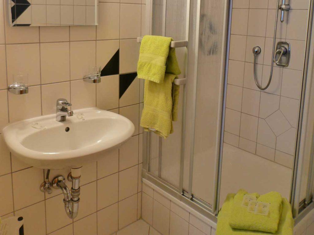 Gemuetliche-FeWo-Spatzennest-1Z-Badezimmer-Dusche-2-Personen-26qm-Ferienwohnung-Lueneburger-Heide-Niedersachsen-Heideort-Luenzen-Schneverdingen-Ferienhof-Reiterhof