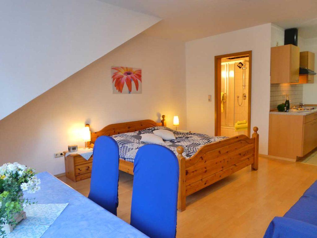 Gemuetliche-FeWo-Spatzennest-1Z-Doppelbett-Badezimmer-Singlekueche-26qm-Ferienwohnung-Lueneburger-Heide-Niedersachsen-Heideort-Luenzen-Schneverdingen-Ferienhof-Reiterhof
